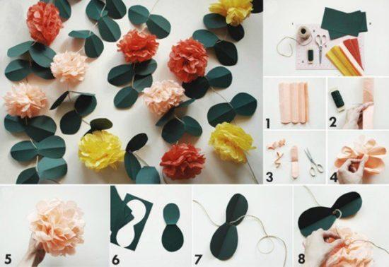8 bước để làm những giây hoa giấy đầy màu sắc trang trí cho tường nhà thêm sinh động và hấp dẫn