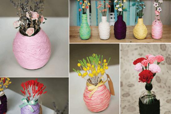 Ảnh minh họa các thiết kế hoa và bình sáng tạo
