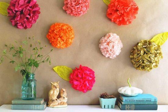 Ảnh minh họa những bông hoa to dán tường đẹp