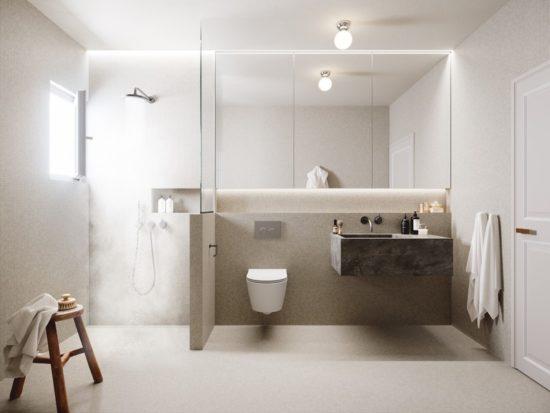 Ánh sáng phòng tắm hợp lý