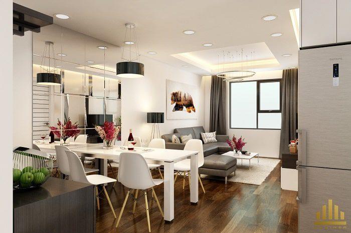 Bàn ăn liền phòng khách giúp bạn tiết kiệm được không gian