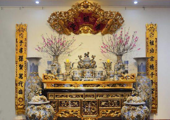 Cách trang trí bàn thờ ngày tết