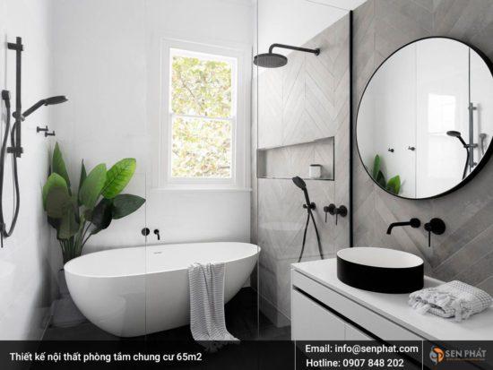 Cây xanh giúp tạo không khí trong lành cho căn phòng tắm