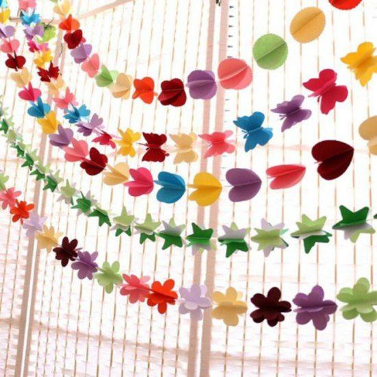 Dải hoa giấy đẹp mắt, sáng tạo