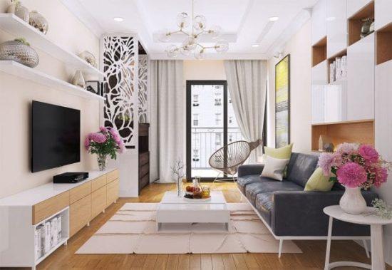 Để thiết kế phòng khách chung cư đẹp cần nắm được những nguyên tắc cơ bản trong thiết kế