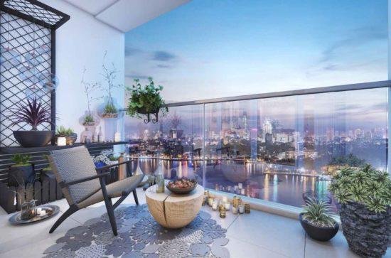 Đẹp mắt trong thiết kế logia chung cư mang lại tầm nhìn đẹp, an toàn của thành phố lung linh