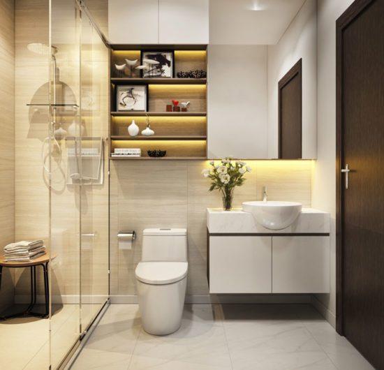Đồ nội thất phù hợp với không gian phòng tắm