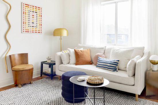 Đối với các không gian nhỏ, nên sử dụng những gam màu sáng cho nội thất và sơn tường