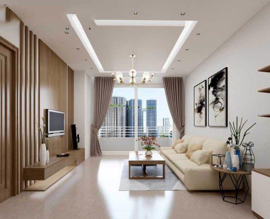 Gam màu trắng giúp nới rộng không gian mang lại nét thanh lịch và tinh tế
