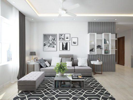 Gam màu trắng luôn được sử dụng phổ biến trong căn hộ