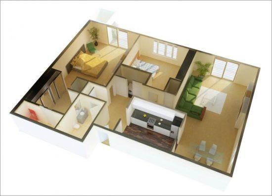 Gợi ý thiết kế nội thất cho căn hộ chung cư 70m2