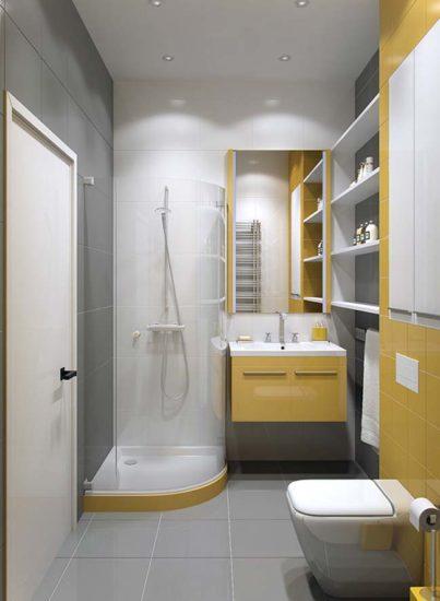 Kích thước đồ nội thất phụ thuộc vào diện tích phòng tắm