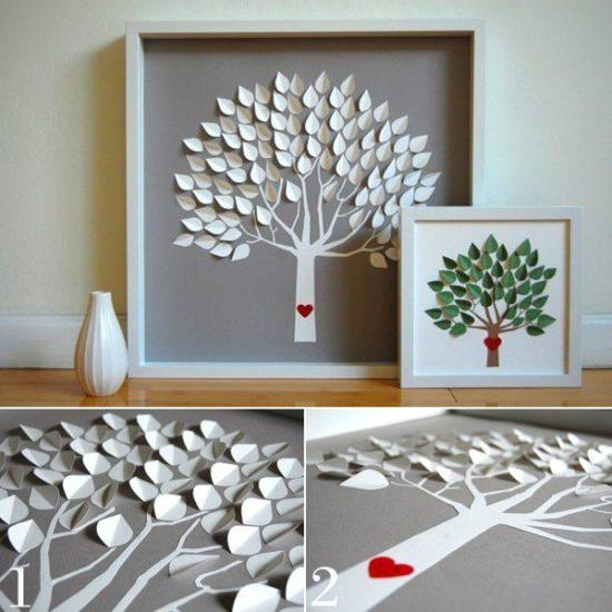Làm cây trang trí từ đồ handmade