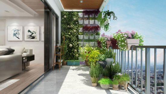 Logia tạo không gian sống đẹp, gần gũi với thiên nhiên