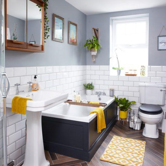 Mang cây xanh vào phòng tắm