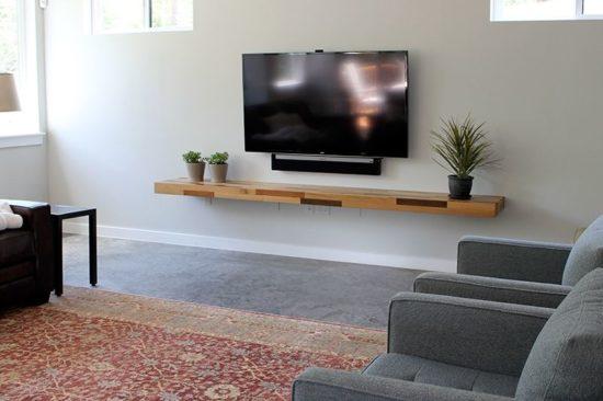 Màu sắc kệ tivi phù hợp với không gian