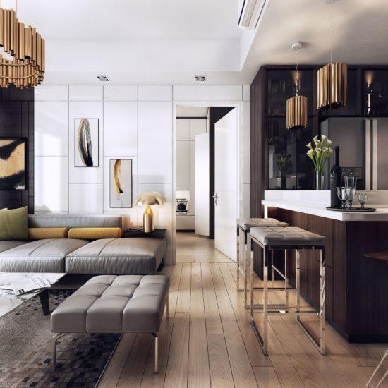 Mẫu thiết kế nhà chung cư theo phong cách hiện đại, sang trọng