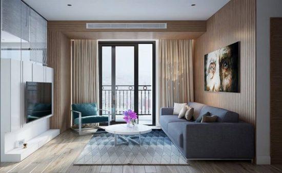 Mẫu thiết kế phòng khách chung cư đẹp theo phong cách hiện đại, đơn giản nhưng khó rời mắt nhìn