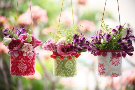 Những giỏ hoa xinh xắn được làm từ đồ handmade