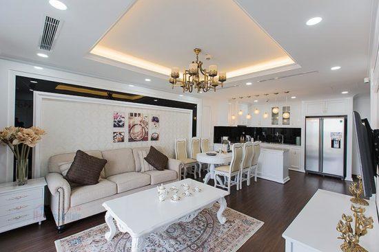 Phòng khách chung cư phong cách tân cổ điển