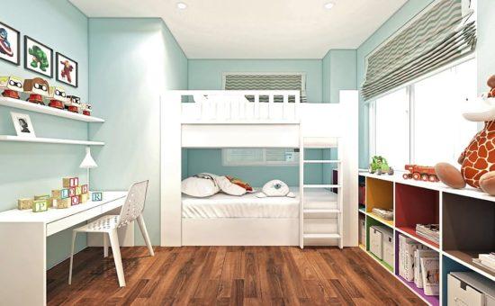 Phòng ngủ cho bé đơn giản và luôn gọn gàng