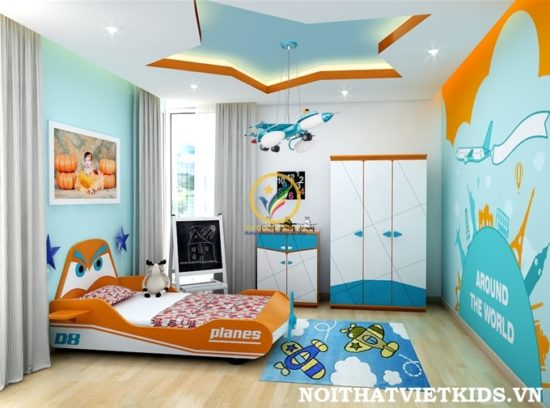 Phòng ngủ cho bé hợp phong thủy giúp trẻ có được sức khỏe tốt