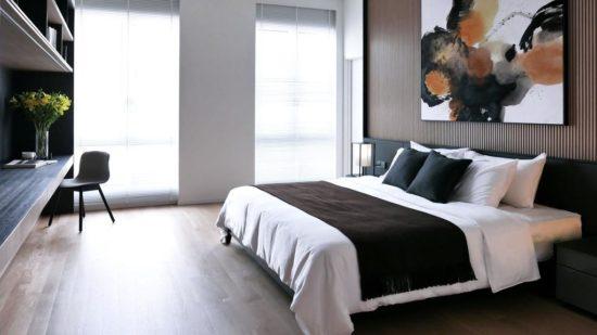 Phòng ngủ master của biệt thự hiện đại