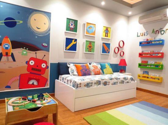 Phòng ngủ năng động dành cho bé trai