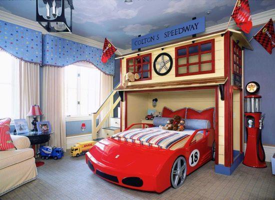 Phòng ngủ vô cùng sáng tạo dành cho bé trai