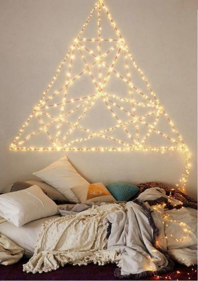 Sử dụng đèn led trang trí phòng ngủ