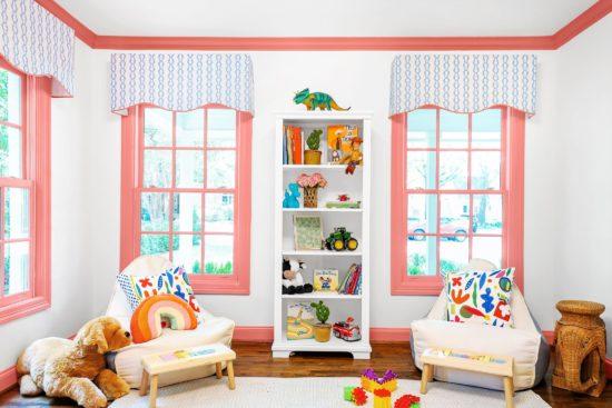 Sử dụng rèm để trang trí cho phòng ngủ trẻ em