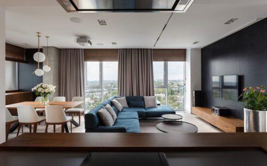 Thiết kế phòng khách và phòng ăn liên thông để tạo sự gần gũi