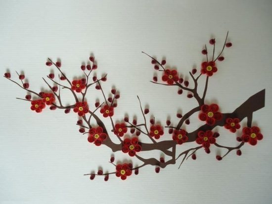 Tạo tranh tết bằng đồ handmade