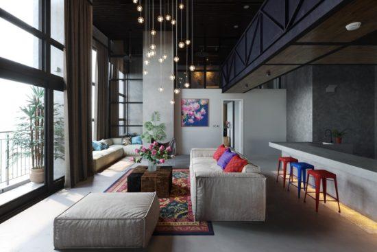 Tham khảo cách trang trí phòng khách hiện đại khá độc đáo