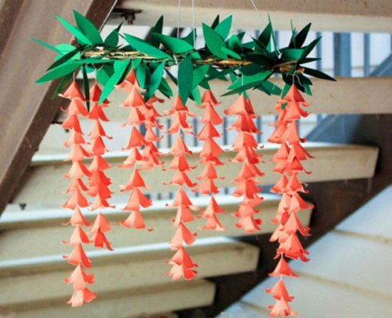Thêm sắc màu cho không gian nội thất với những chùm hoa chuông màu cam ấm áp và mùa đông này nhé