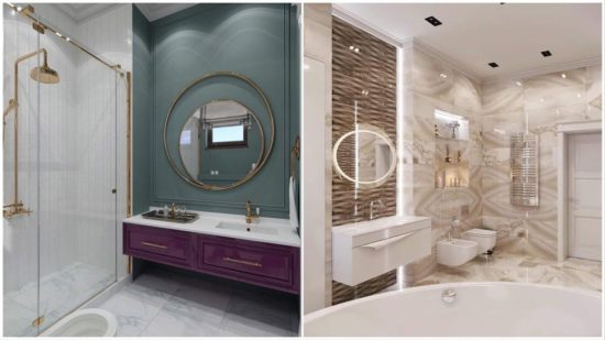 Thiết kế nhà vệ sinh tân cổ điển hợp phong thuỷ