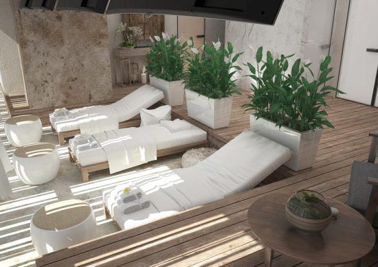 Thiết kế spa theo phong cách thiên nhiên gần gũi với ánh sáng ngập tràn