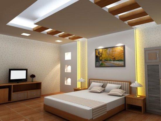 Trần thạch cao phòng ngủ cần có sự ấm áp, nhẹ nhàng