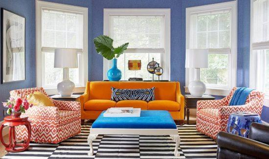 Trang trí phòng khách màu sắc tươi tắn, đầy sức sống