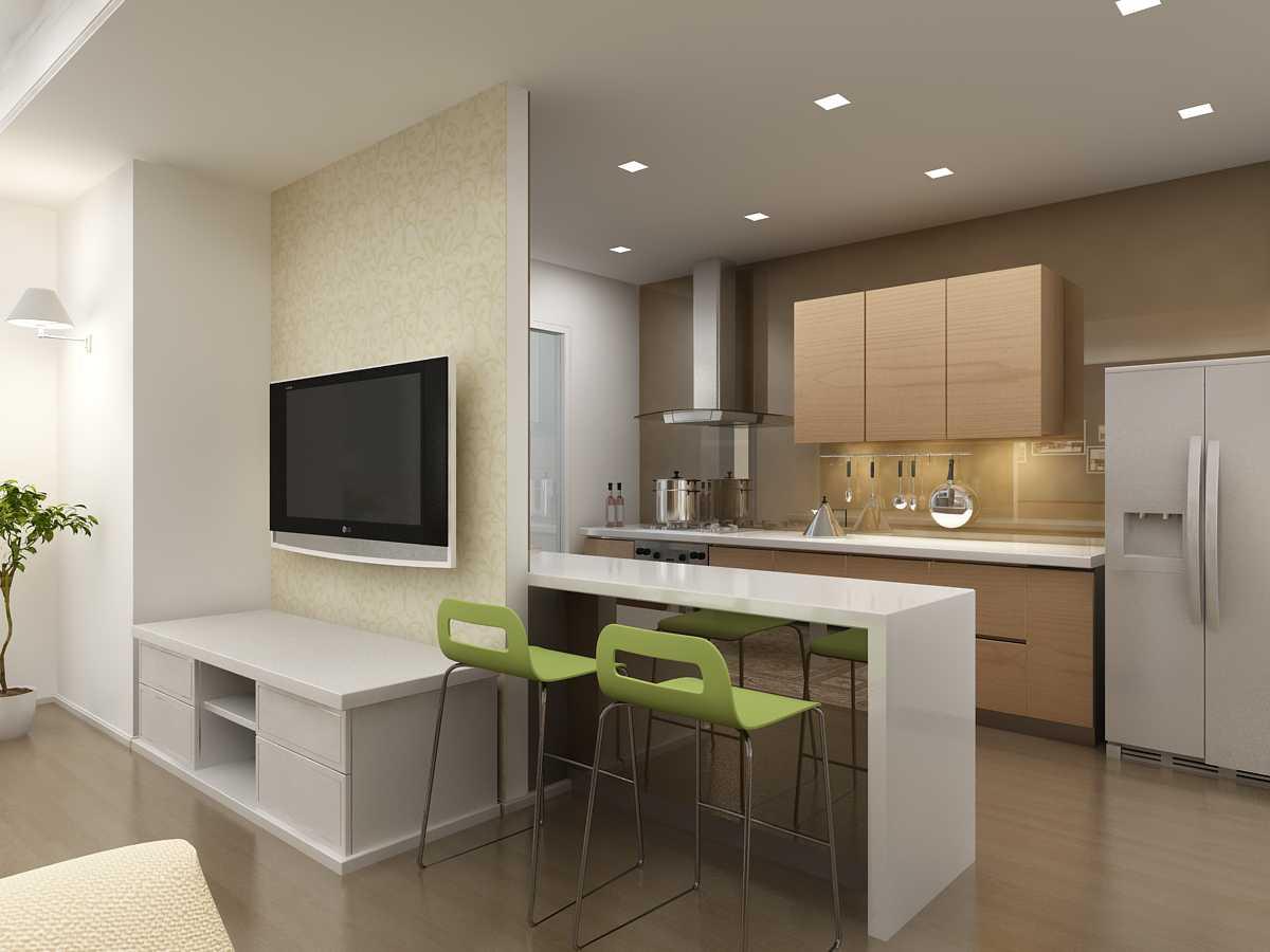 Bàn bếp có thể được sử dụng như quầy bar để tiếp khách
