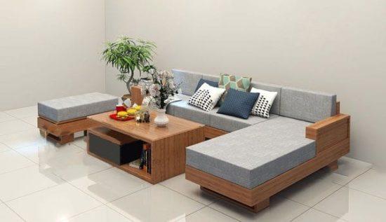 Bàn ghế phòng khách cho không gian rộng rãi