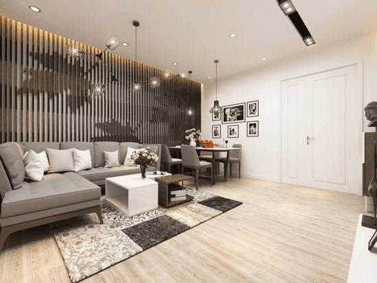 Bố trí không gian nội thất nhà diện tích 100m2 phù hợp
