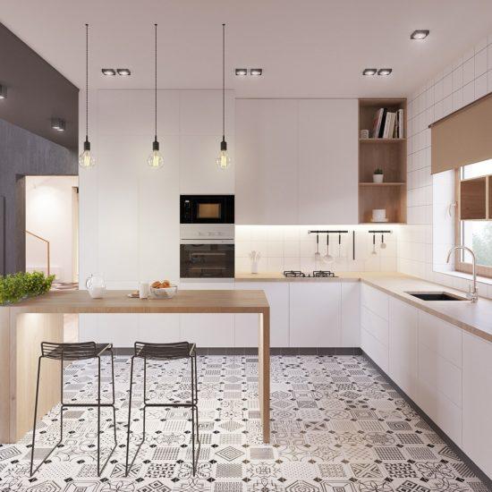 Cần chú ý đến ánh sáng và việc sắp xếp các đồ dùng trong căn bếp