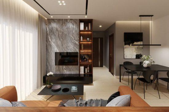 Không gian nội thất hiện đại mà ấm cúng