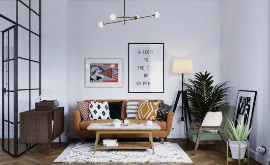 Không gian phòng khách đơn giản và khó nhỏ gọn