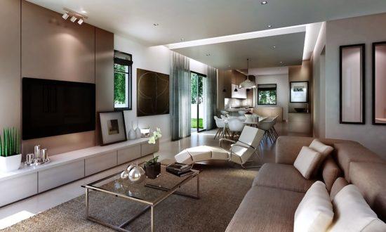 Không gian phòng khách mang phong cách hiện đại