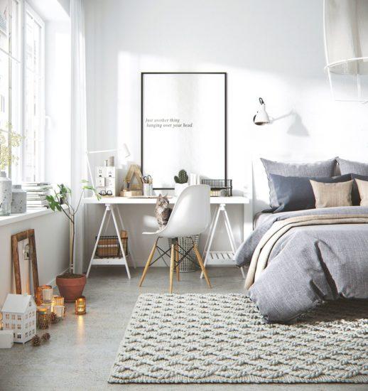 Không gian phòng ngủ luôn chú trọng đến ánh sáng và sự thoải mái