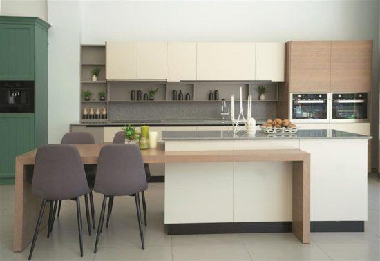 Lựa chọn kiểu dáng bàn đảo bếp phù hợp với phong cách thiết kế bếp