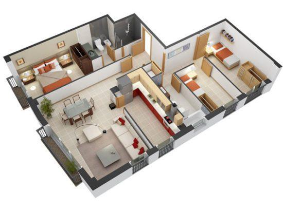 Mẫu căn hộ mang đến cảm giác tinh tế và rất gần gũi