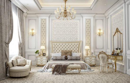 Mẫu phòng ngủ tân cổ điển cho biệt thự